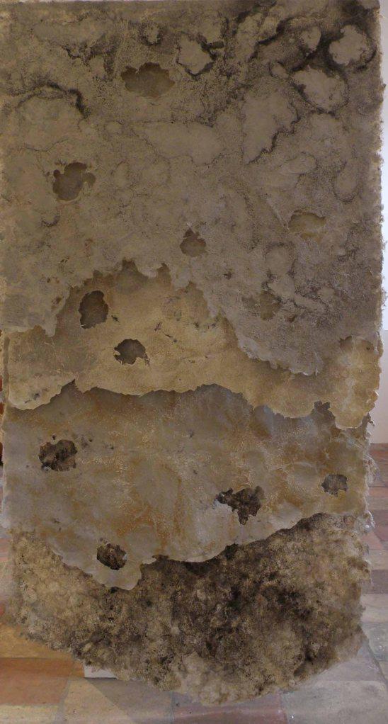 Undercut.  Handmade paper and coastal pigments.